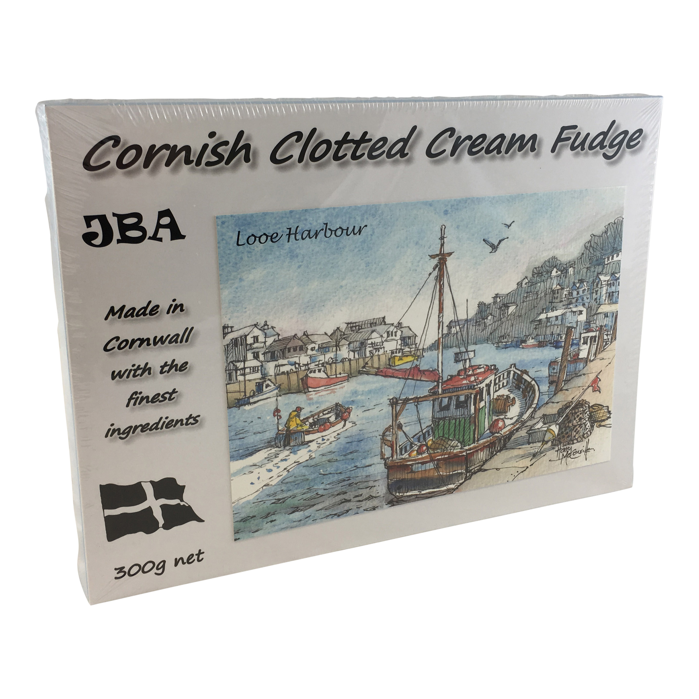 300g Made In Cornwall Clotted Cream Fudge Postcard Box