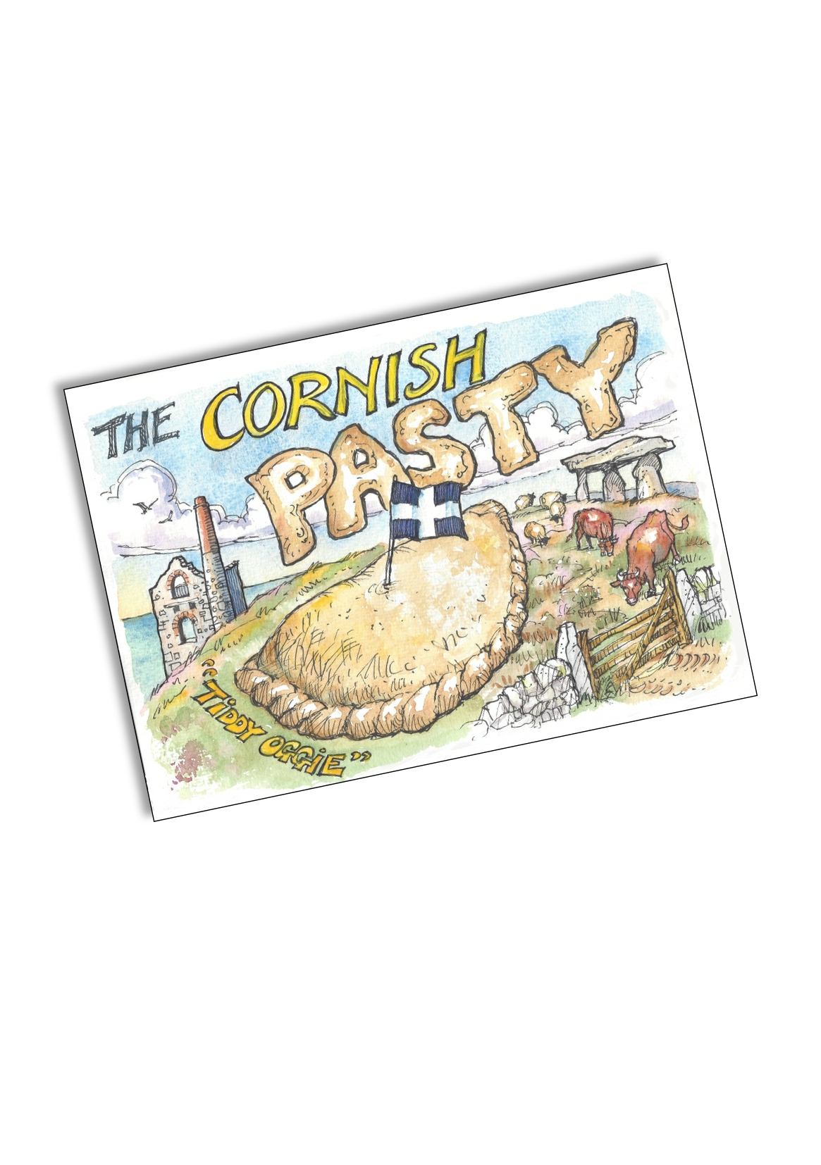 Cornish Pasty Tin Plate Magnet