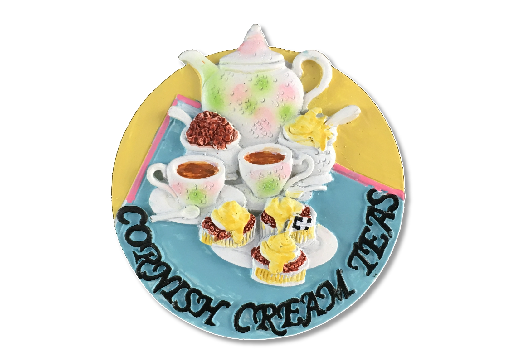 Resin Cornish Cream Tea Magnet