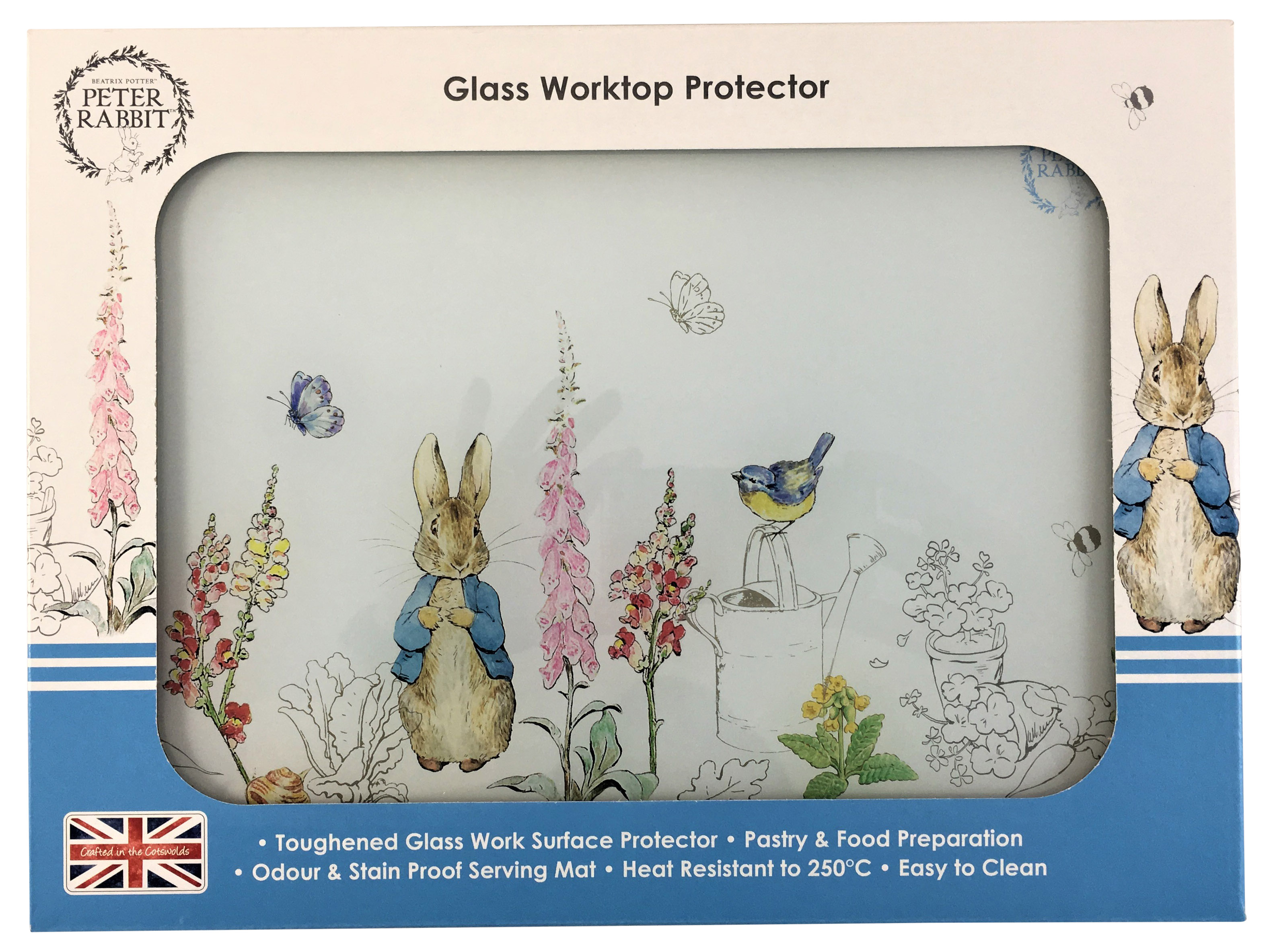 Peter Rabbit Glass Worktop Saver