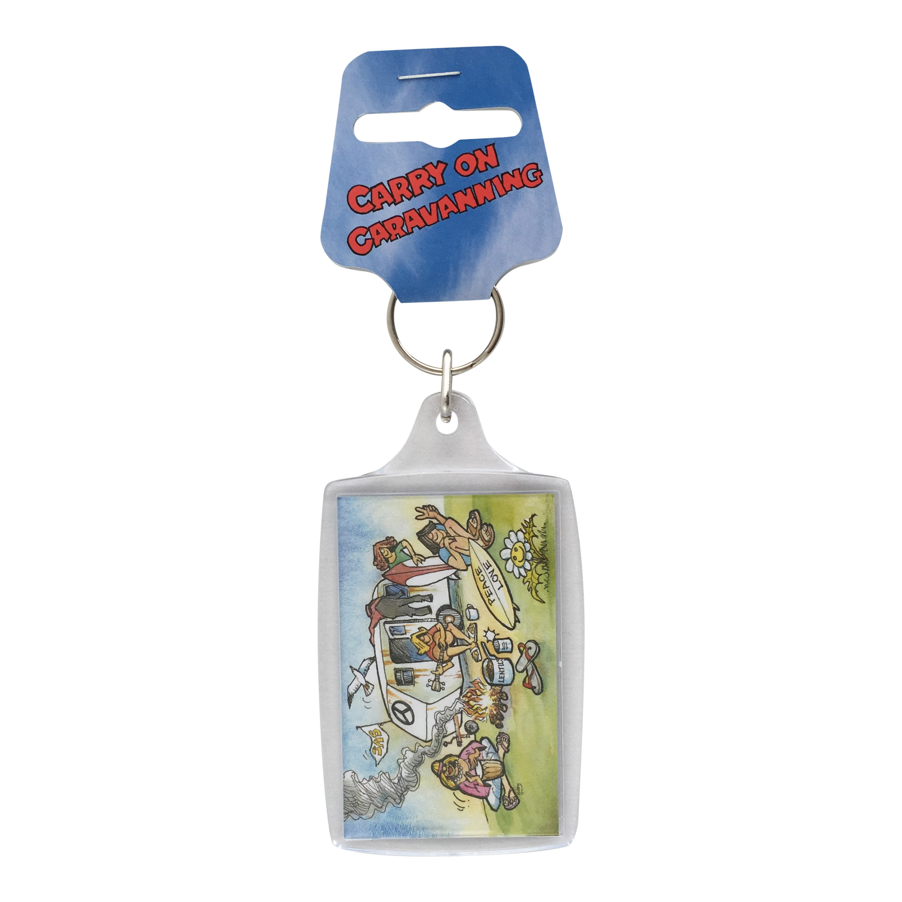 Carry on Caravanning Acrylic Keyring Surfers