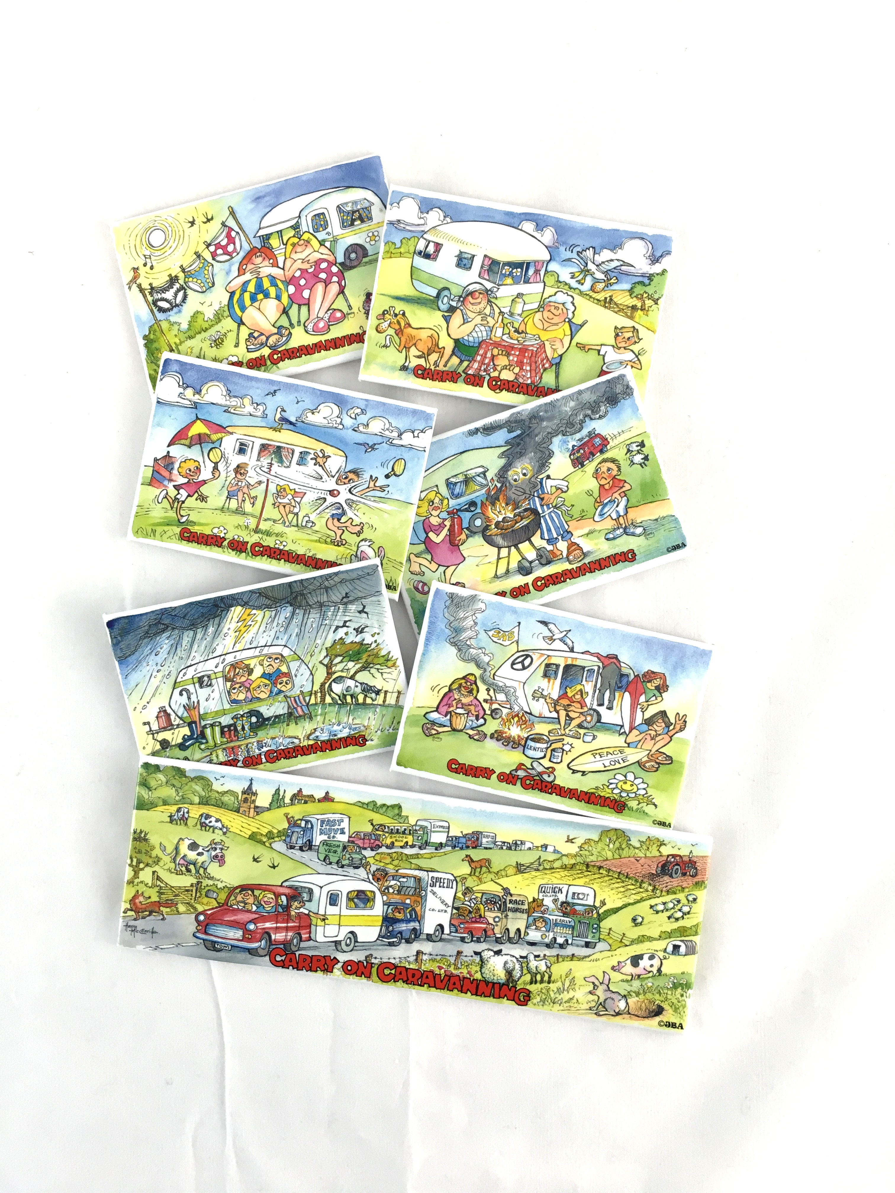 Carry on Caravanning Tin Plate Magnets