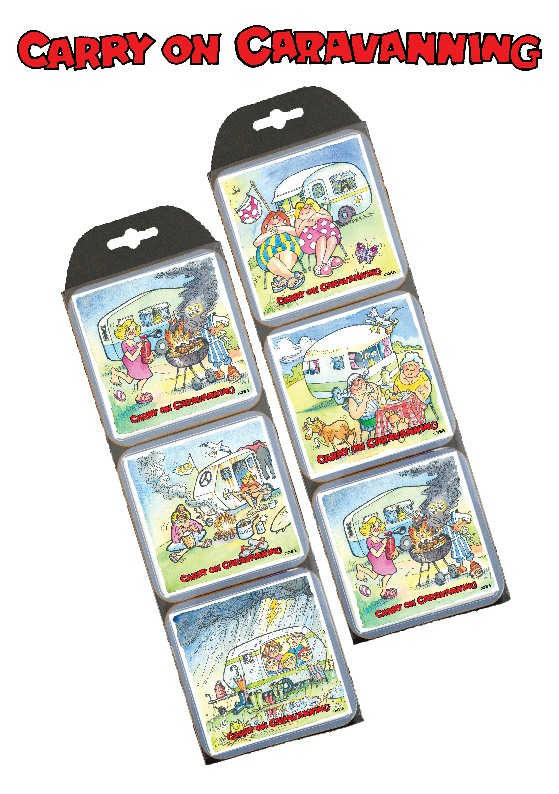 Carry on Caravanning Set of 6 Coasters