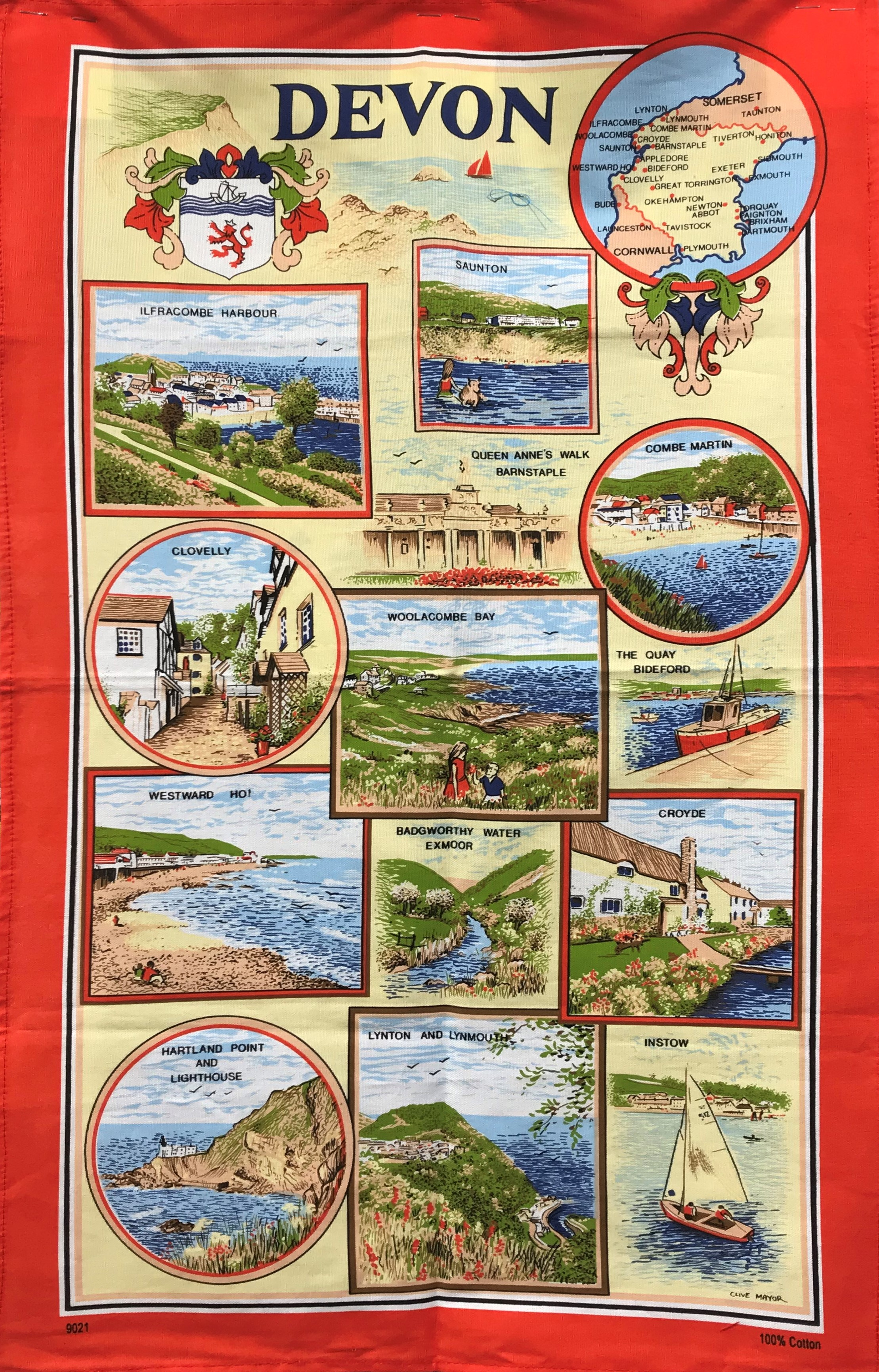 Devon Red Tea Towel