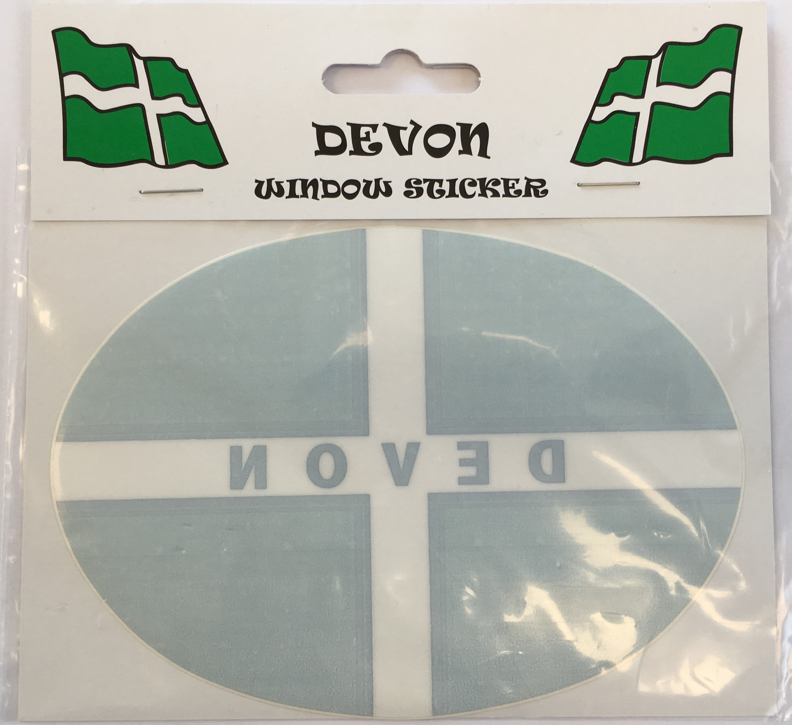 Devon Flag Oval Window Sticker