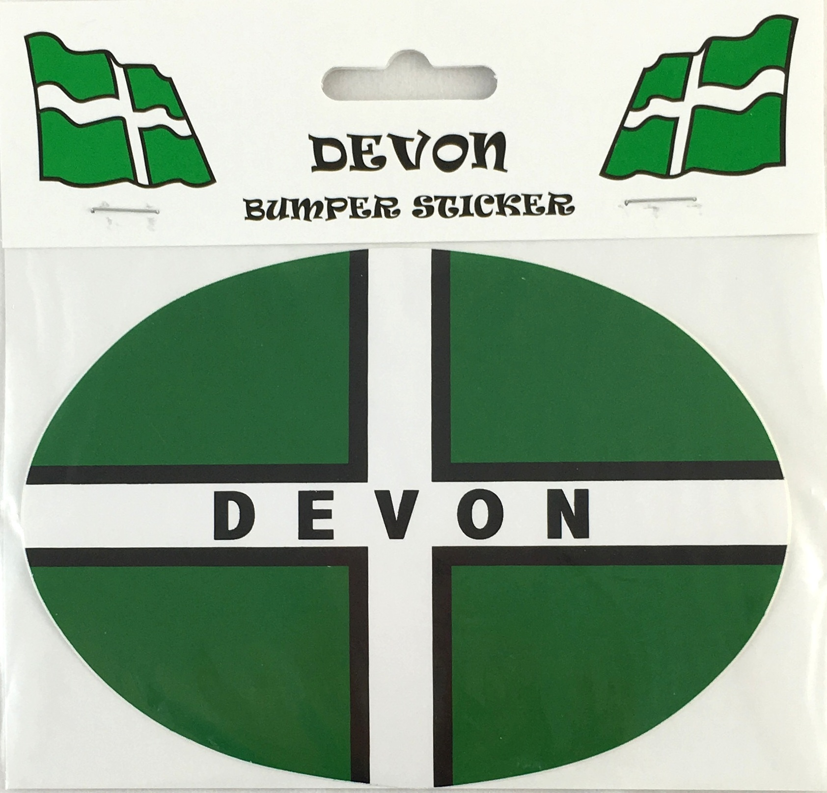 Devon Flag Oval Bumper Sticker