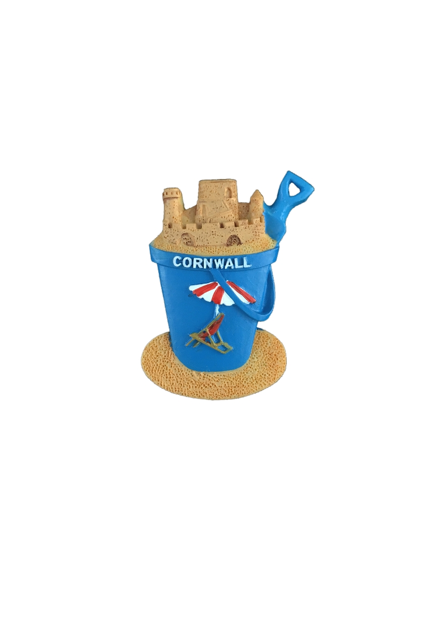Resin Cornwall Bucket and Spade Magnet