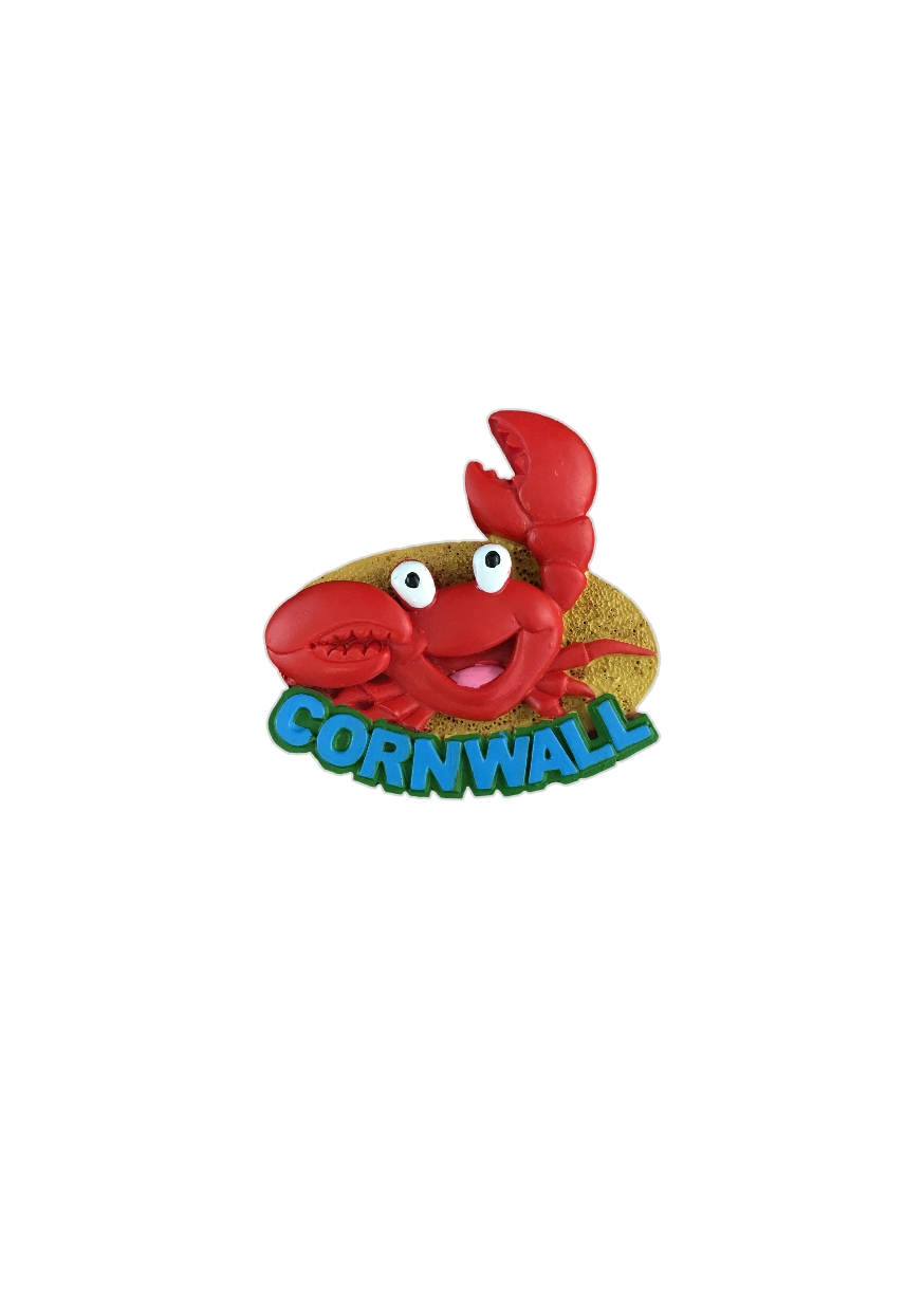 Resin Cornwall Crab Magnet