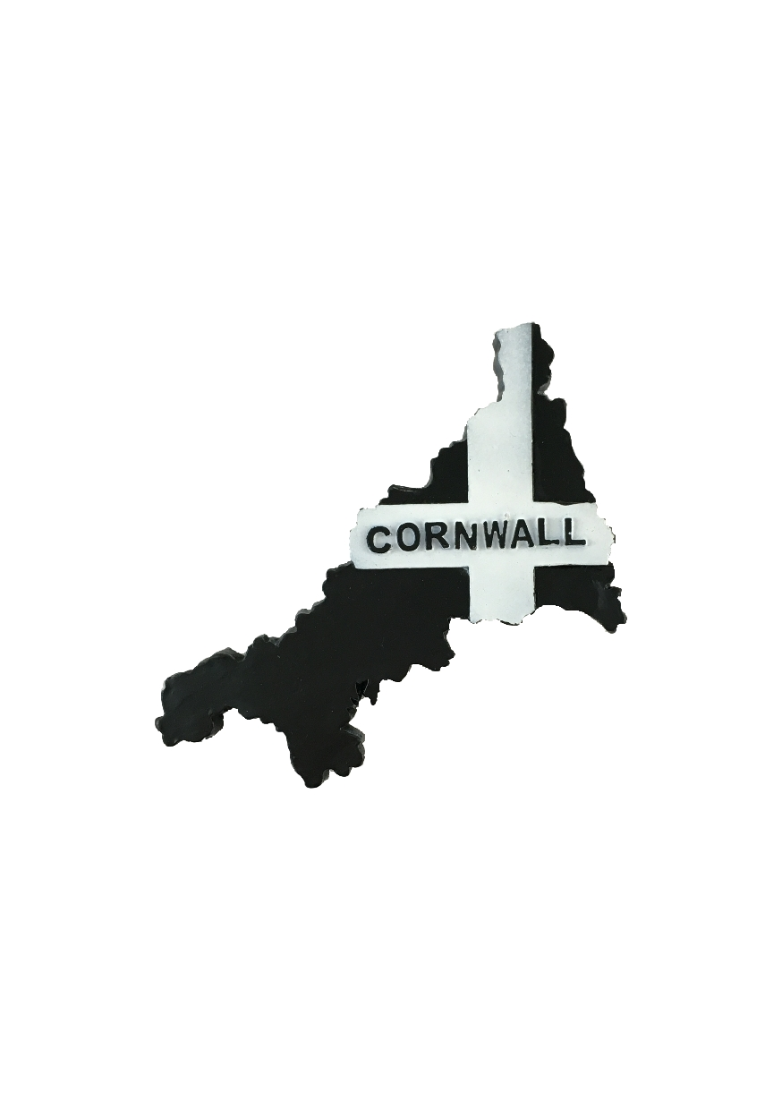 Resin Cornwall Map Magnet