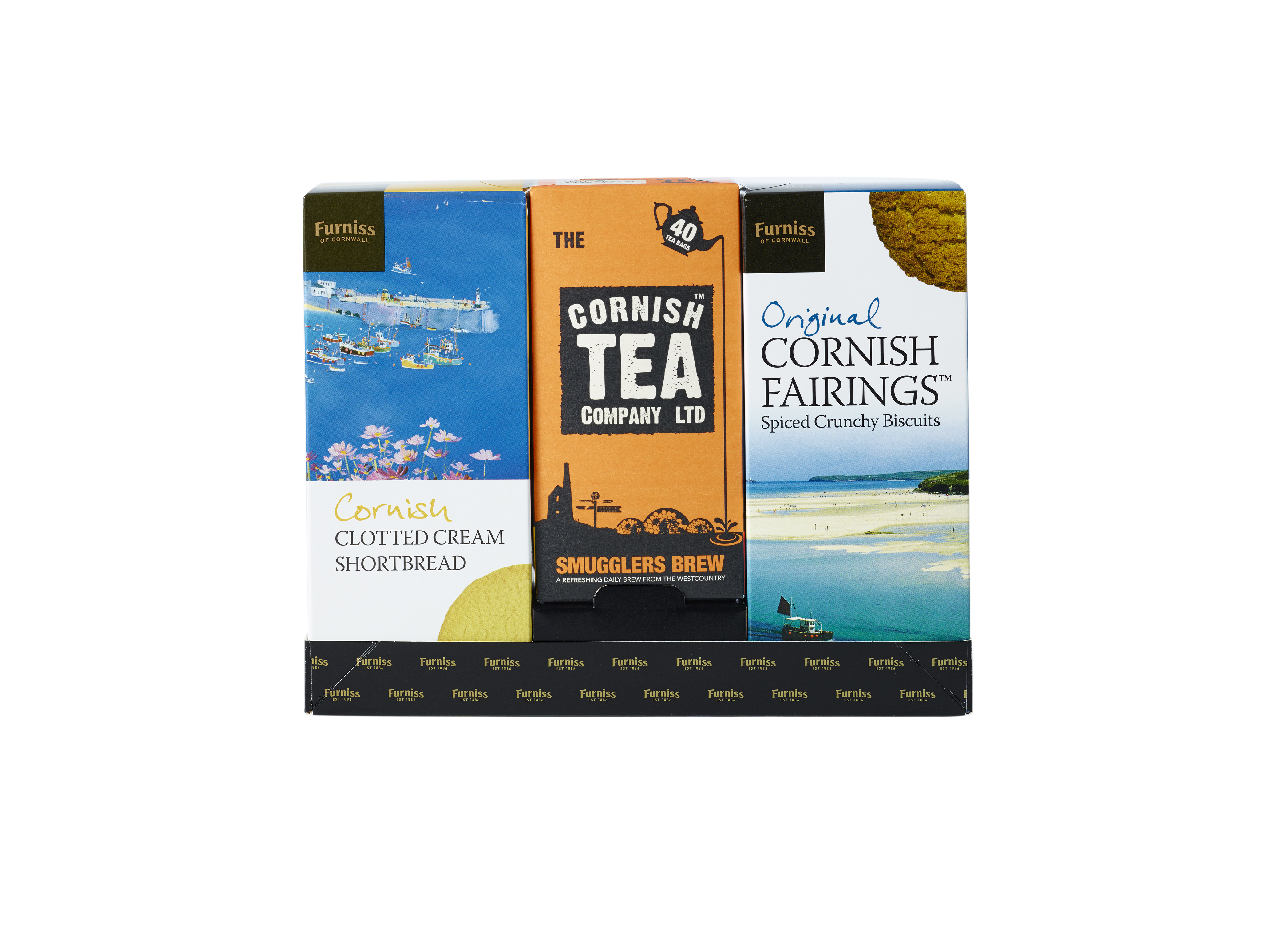 Cornish Tea and Furniss Biscuits Gift Pack