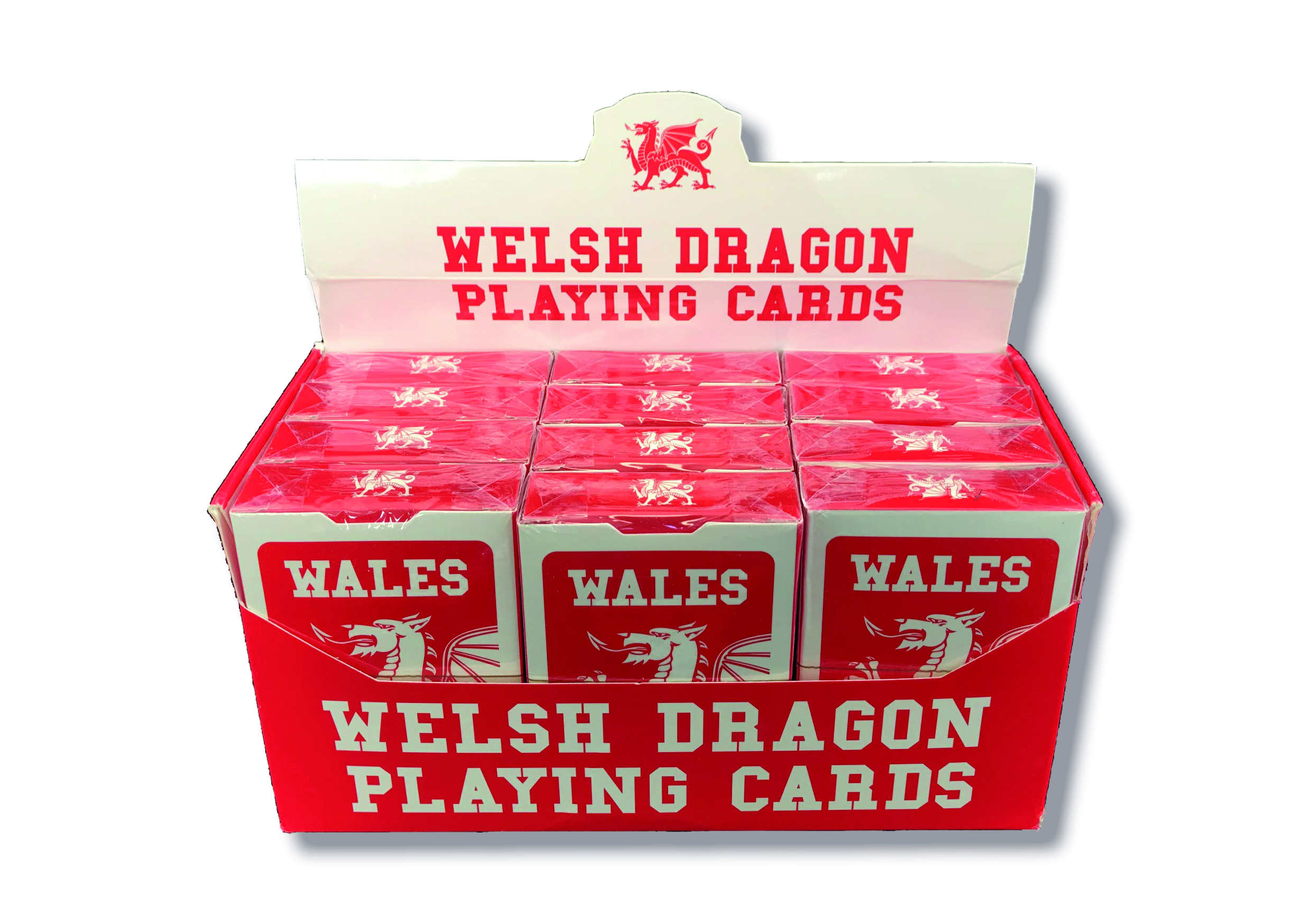 Welsh Dragon Playing Cards in display box