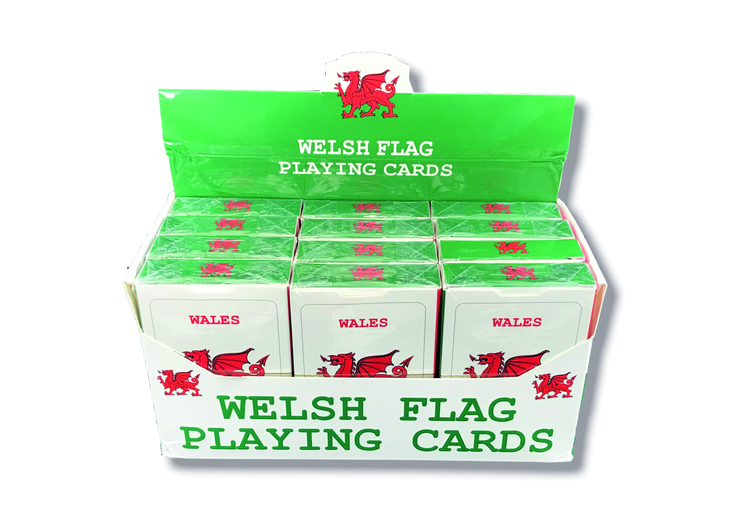 Welsh Flag Playing Cards in display box
