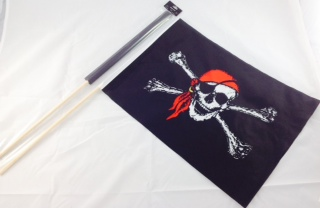Pirate Flag Hand Waver 12'' x 18''